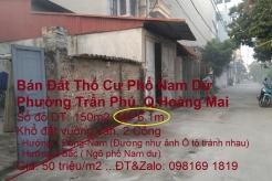 Bán Đất Thổ cư Phố Nam Dư, Phường Trần Phú, Quận Hoàng Mai