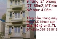Bán Khách sạn Phố Đào Duy Từ, Quận Hoàn Kiếm, Hà Nội ( Đang Kinh doanh, Cạnh Ngã 4 Đào Duy Từ - Nguyễn Siêu)