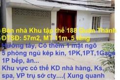 Bán nhà Khu tập thể 188 Quán Thánh, Ba Đình, Hà Nội (Kinh doanh tốt)