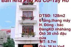 Bán gấp nhà mặt phố Âu Cơ 128m2, 6 tầng, mặt tiền 5.7m, Quận Tây Hồ. Hà Nội ( Đang mở nhà hàng)
