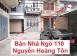 Bán nhà Hướng Tây nam, 4 tầng, Ngõ lớn 110 Nguyễn Hoàng Tôn, Tây Hồ, Hà Nội.