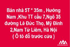 Bán nhà 5 tầng, Hướng Nam, Khu TT Cầu 7 Ngõ 35đường Lê Đức Thọ, Mỹ Đình 2, Nam Từ Liêm, Hà Nội