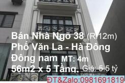 Bán nhà 5 tầng, Đông nam, Phố Văn La, Khuđô thị Văn Phú. Quận HàĐông, Hà Nội ( Kinh doanh Văn phòng)