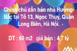 Chính chủ Bán nhà 5T, hướng Bắc,Tổ 13, Ngọc Thụy, Quận Long Biên, Hà Nội.