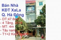 Bán nhà 4 Tầng, Tây nam,Mặt đường đôi KĐT Xa La, Quận Hà Đông, Hà Nội ( Kinh doanh T1+ T2)
