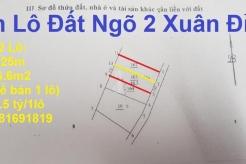 Bán 2 lô đất Ngõ 2 Xuân Đỉnh, Xuân La, Bắc Từ Liêm, Hà Nội (cổng làng Xuân Đỉnh)