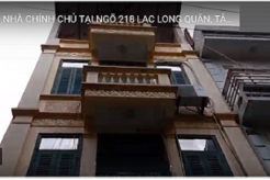 Chính chủ bán nhà 3.5 tầng nằm trong ngõ 218 Lạc Long Quân khoảng 200 M, thông ra Hồ Tây 1 phútđi bộ