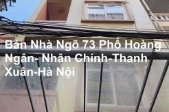Chính chủ bán Nhà 5 tầng, 55m2, Ngõ 73 phố Hoàng Ngân, Nhân Chính, Q Thanh Xuân, Hà nội